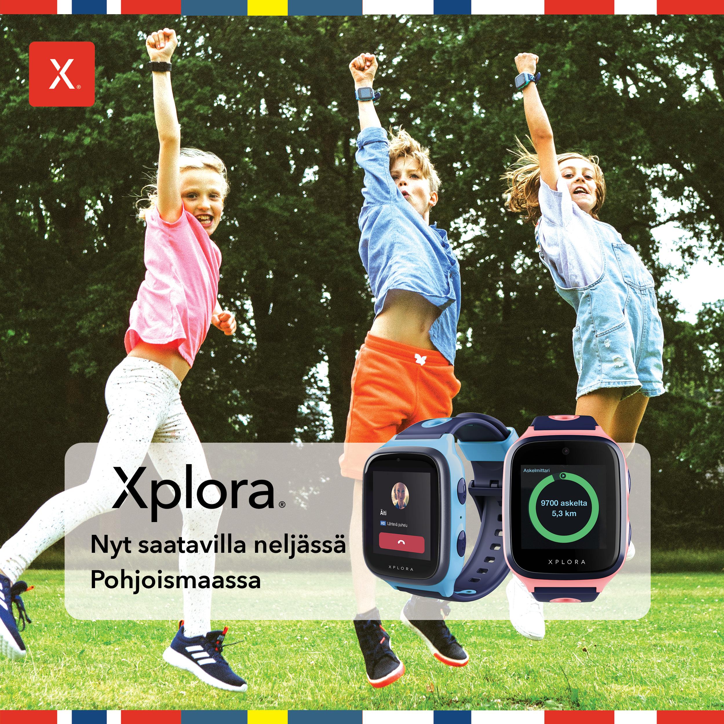 Xplora kellopuhelimet ovat nyt saatavilla neljässä Pohjoismaassa!