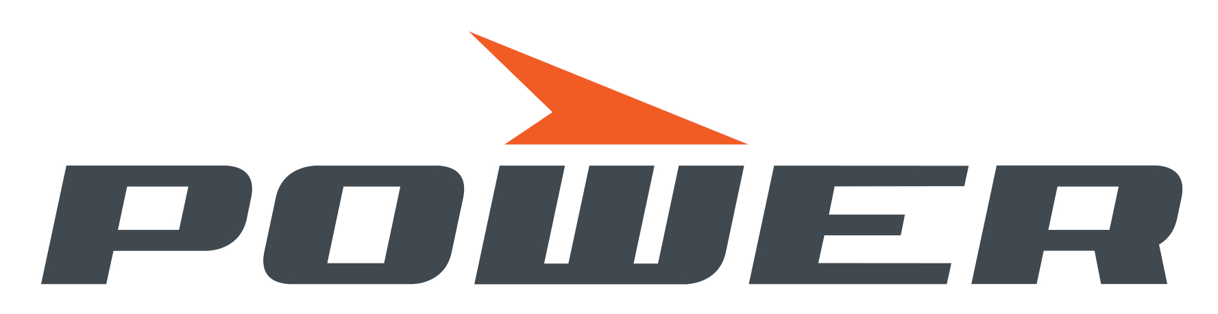 Power logo valkoinen