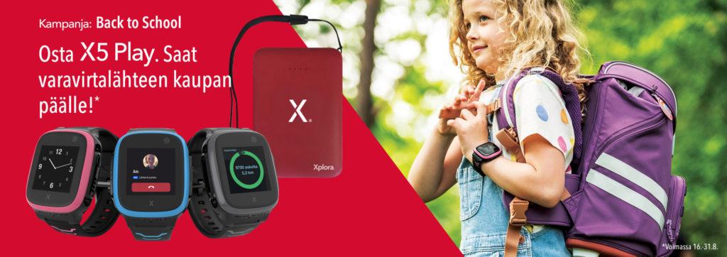 Varavirtalähde kaupan päälle, kun ostat Xplora X5 Play puhelimen